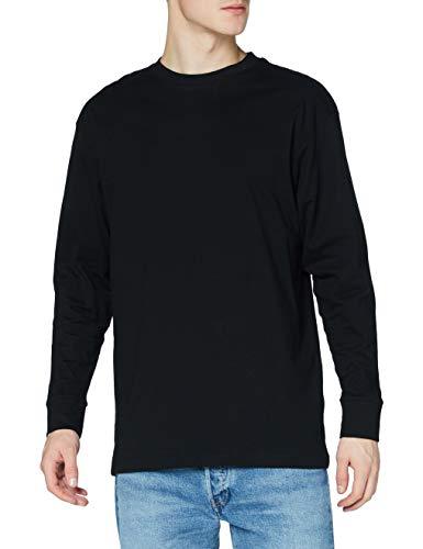 Urban Classics Herren Tall Tee L/S Langarmshirt, Schwarz, XXXXX-Large (Herstellergröße: 5XL)