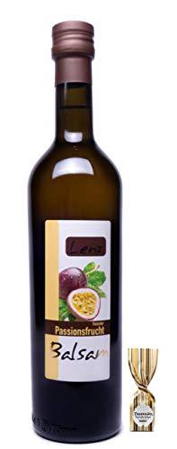 Lenz [500ml] Original Passionsfrucht Balsam + 1 Trüffel Praline - Intensiver Süß Sauer Geschmack - Perfekt für Dressings, Salate und normale Gerichte - Essig ohne Zucker & Konservierungsstoffe