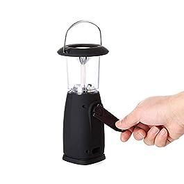 Lampe Camping Rechargeable Lanterne de Camping Solaire, lampe led rechargeable avec trois modes de charge et 6 perles de…