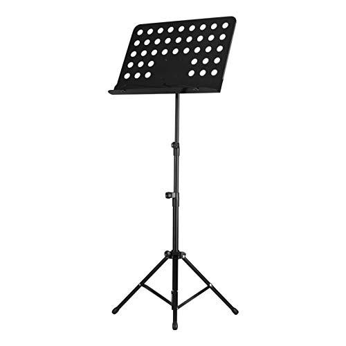 NotenständerTragbarer Metallmusikständer Abnehmbare Musikinstrumente Für Klavier Violine Gitarre Noten SchwarzTragbarRobustPodestständer (Size:One Size; Color:Black)