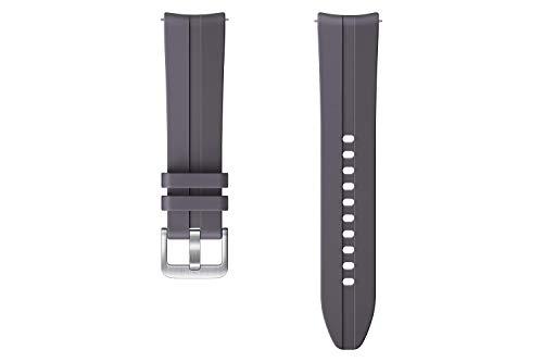 Samsung Ridge Sport Armband ET-SFR85, Uhrenarmband für Galaxy Watch3 mit 20 mm Stegbreite, Sportarmband aus Fluorelastomer in Grau