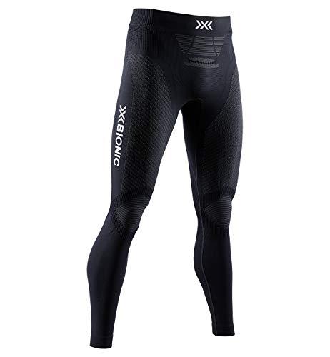 X-Bionic Invent 4.0 Running Pants Men, Pantaloni da Corsa Jogging Fitness Training Baselayer Leggings Sportivi Uomo, Black/Charcoal, S