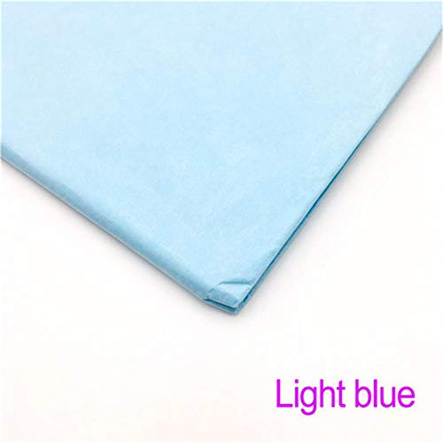 Miner 10 Vellen Inch Tissuepapier Bloem Kleding Overhemd Schoenen Geschenkverpakking Ambachtelijke Papierrol Wijn Inpakpapier, Lichtblauw