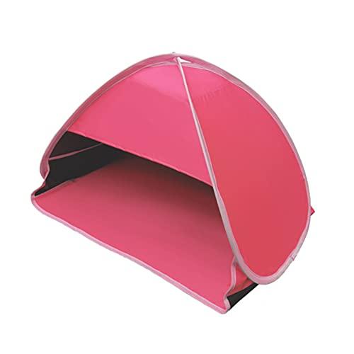 CJBIN Paravientos Playa, Tiendas de Campaña Automáticas Pop Up Resistente a Los Rayos UV Plegable Lmpermeable Refugio Playa, Carpa Playa para Playa, Jardín, Camping, Viajes(Vinilo Rojo Carmín)