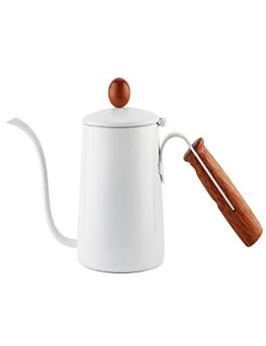 ThéIèRe de Café en Acier Inoxydable de Haute Qualité/Long Pot de Bouche D'éGouttement avec MéTier de TéFlon et PoignéE de Notation, Utilisation de Bureau Ou à la Maison, Multicolor