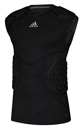 adidas Men's Football Alphaskin Force 5 Padded Tee Tank Top Protection (Black M)