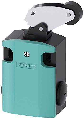 Siemens 3SE5 122-0CF01 International Limit Switch Complete Unit, Angular Roller Lever, 56mm Metal Enclosure, Metal Lever, 22mm Plastic Roller, Snap Action Contacts, 1 NO + 1 NC Contacts