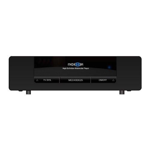 Mede8er MED400X2S/WP Media-Player (Realtek RTD1185, 256MB RAM, HDMI, Internet-Radio, SPDIF, WiFi, RJ-45, USB 2.0) schwarz