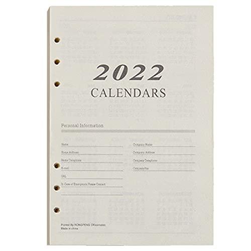 Papel de recambio con puntos A5 para planificador Filofax, 176 hojas/352 páginas, papel blanco de 80 g/m², 6 agujeros de hojas sueltas, 14,8 x 21 cm