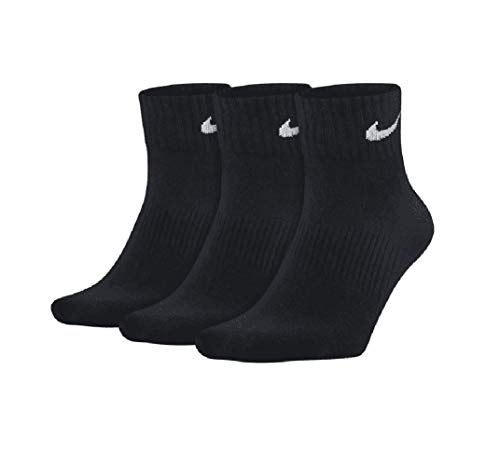 Nike Dry Leightweight Crew Scocken - Calcetines (3 unidades) blanco/negro L