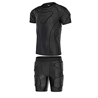 TUOY Youth Boys Padded Protective Shirts Shorts for Football Paintball Baseball