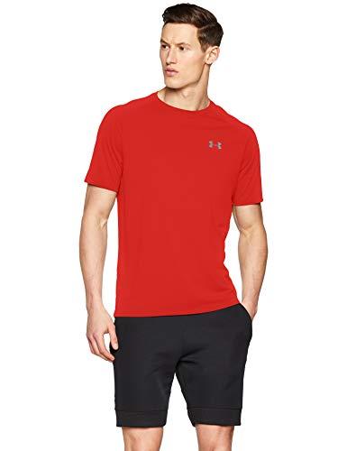 Under Armour Maglietta Sportiva da Uomo Tech 2.0, Traspirante, a Maniche Corte e ad Asciugatura Rapida, vestibilità Perfetta, Uomo, 1326413, Rot(Red (600)), XS