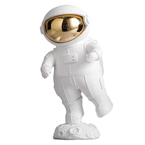 WINOMO Harz Raumfahrer Figuren Kreative Astronauten Figur Ornament Tischplatte Miniatur Raumfahrer Dekor Astronauten Party Geschenke Stehen Spielzeug Party Gunst für Puppenhaus Weiß