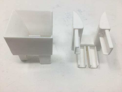 Einlauftrichter für Rolladenführungen aus Kunststoff weiß, Preis pro Paar Rollo, Rollade, Jalousie