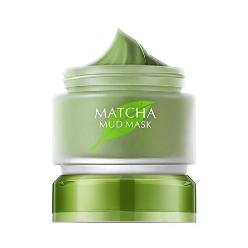 Allbestaye Matcha Green Tea Mud Mask Anti Aging Gesichtsreinigung Gesichtsmaske gegen Reduziert Falten