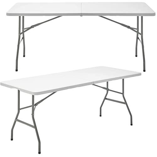 Mesa Plegable Rectangular de Resina Multifuncional, para jardín, Camping, reuniones y Catering...