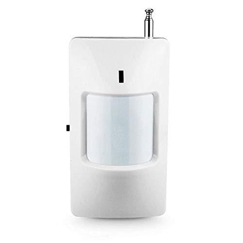 Detector de movimiento volumétrico para alarmas hogar, casa, inalámbrico 433Mhz-1527. Con interruptor encendido. Bajo consumo bateria. Inmunidad RFI. Amplio angulo detección. Alcance 12 metros IR202
