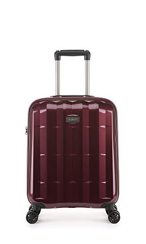 Antler Global DLX, Ultra-Lightweight & Super-Strong Hard Shell Suitcase - Colour: Burgundy, Size: Cabin