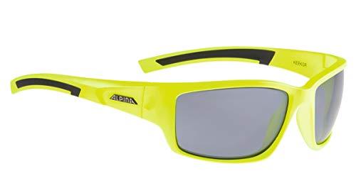 ALPINA Unisex - Erwachsene, KEEKOR CM Sportbrille, neon yellow-black, One size