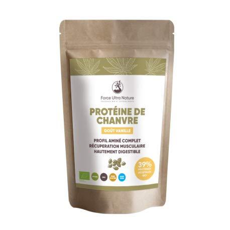 E-ORIGINE - Protéine de chanvre Vanille certifié BIO - 1kg