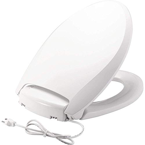 Bemis Radiance Plastic Toilet Seat, H1900NL 000, Elongated-White