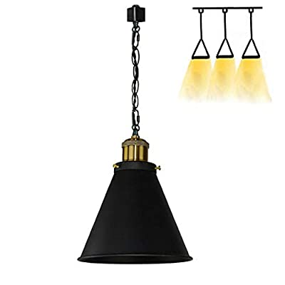 Kiven H-Type Track Pendant Lignting Antique Industrial Oil Rubbed Bronze Pendant Light 3 Pack for Kitchen Islands Lighting