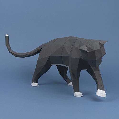 Freche Katze, Papercraft kit, katze papiermodell, Heimdekoration, Geschenk, Origami 3D, Papier Handwerk, Puzzle 3D.