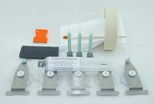 CABRIODOC Reparatur Komplett Set Cabrio Glas Heck Scheibe kleben. Heckscheibe mit Verdeckstoff verkleben.