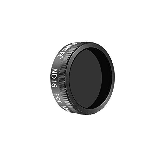 Neewer Filter Set für DJI Mavic Air: ND4/PL, ND8/PL, ND16/PL Filter, Hergestellt aus Mehrfachbeschichteten Wasserdichten Aluminiumlegierung Rahmen Optischen Glas (Schwarz) (ND16)