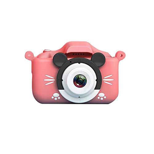 LYQZ Cartoon Shatter beständige Mini Kinderdigitalkamera, kreative Filter-Foto-Aufkleber Switch, Junge und Mädchen-Doppelobjektiv-Kamera 2000W Kinder Kamera Spielzeug (Bundle : 32G, Color : Pink)