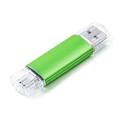 Vansuny Memoria Micro USB 32GB 2 en 1, Pendrive 32 GB USB 2.0 Dual OTG Flash Drive USB Stick Pen Drive para Telefonos Android (Honor, Huawei, Xiaomi), PC, MacBook, Verde