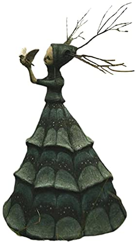 Estatua De Bruja, Decoración De Jardín De Bruja, Artesanías De Resina, Bruja Pesadilla, Decoración De Jardín De Halloween Estatua De Bruja, Hogar, Patio, Césped De Patio, Porche B