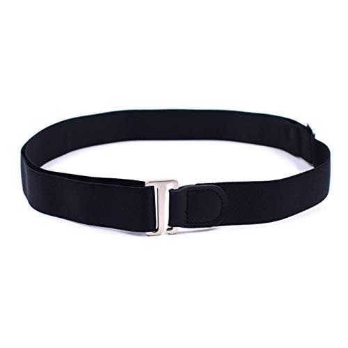 Yolistar Camisa de Bloqueo Cinturón, Ajustable Camisas Cinturón Camisa Mantener Escondido para Hombres Mujeres, un Cinturón que Mantiene Bien tu Camisa - Negro