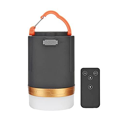 LUWEI Linterna LED para Acampar, luz Recargable por USB para Tienda, Banco de energía de 4800 mAh con 3 Modos de luz, Control Remoto y Base magnética, lámpara de Emergencia Impermeable