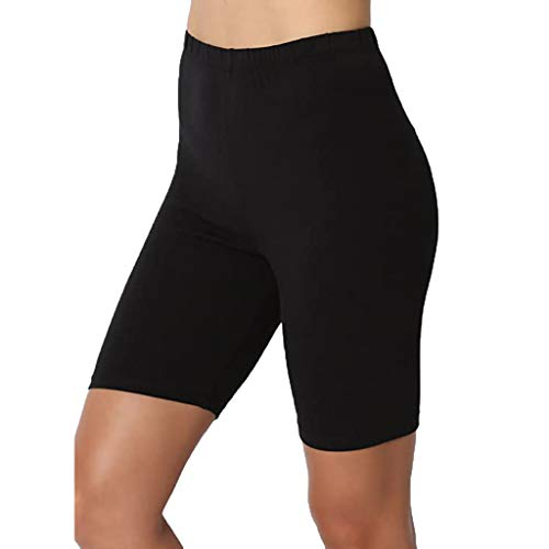AmyGline Shorts Damen Gym Yoga Fitness Shorts Kurze Hose Leggings High Waist Einfarbig Stretch Radlerhose Kurz Hosen Sport Leggins Sporthose Yogahose Hotpants Laufshorts Sweatshorts
