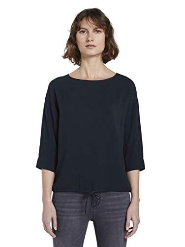 TOM TAILOR Damen Blusen, Shirts & Hemden Bluse mit elastischem Bund Sky Captain Blue,36,10668,6000