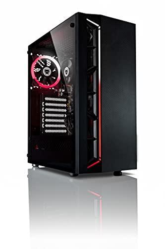 BEASTCOM Q3 | Essential Gaming PC | computer da gaming fisso silencioso | AMD Quadcore 4x 3.80Ghz | 16GB RAM | 512GB SSD | 4K Grafico Radeon R7 | HDMI | USB 3.2 | WiFi | Windows 10 Pro