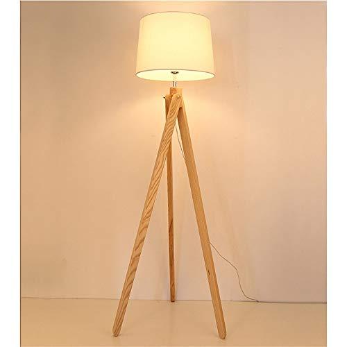 AnoJm Wandleuchte Holzfuß Stativ Stehleuchte Moderne Beleuchtung Designfloor Lampe Gute Wohnkultur (Color : Wood, Size : 55 * 55 * 154cm)