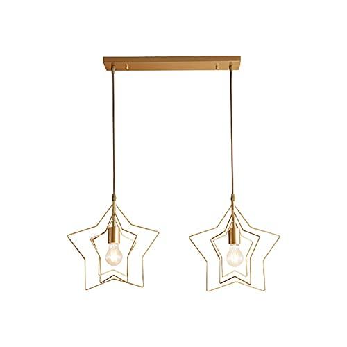 YXLMAONY Iluminación de araña Moderna con Pantalla en Forma de Estrella Acabado de Accesorio de Altura Ajustable para Dormitorio, Sala de Estar, Comedor, Entrada de Pasillo de Isla de Cocina