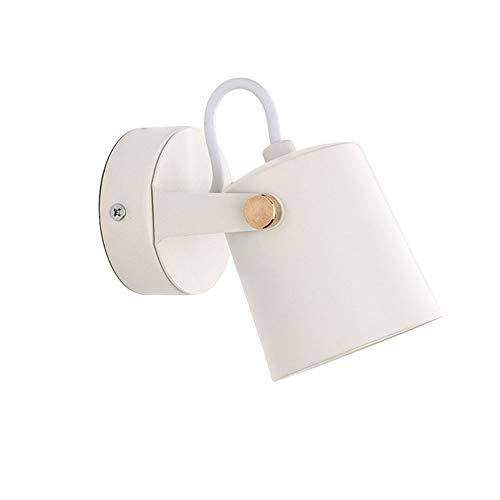 Giratoria Focos LED Aplique de Pared Interior Con 5W Bombilla GU10 Lectura Luz Blanco Cálido Moderna Ajustable Lámpara de Pared para Salon Dormitorio Cabecera Pasillo, Fuente de Luz Reemplazable VOMI