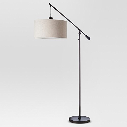 Adjustable Drop Pendant Floor Lamp - Ebony - Threshold