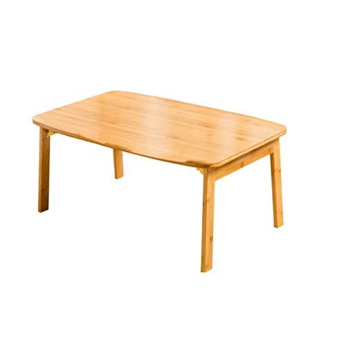 Side table-Q Escritorio de estilo japonés, mesa de café, plegable, de bambú, apartamento, balcón, dormitorio, mesa auxiliar, cama para ordenador, mesa de negociación