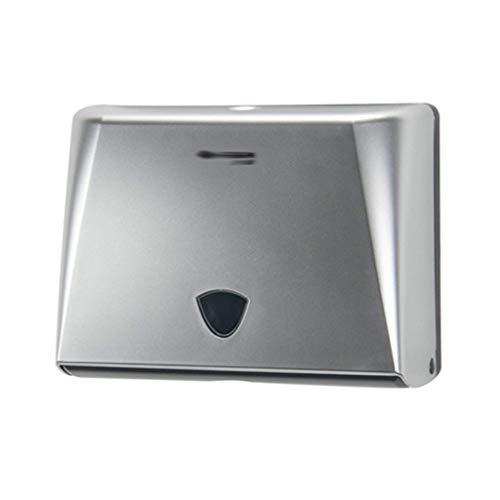 TangMengYun Titular de Papel Tissue Toalla dispensador Caja Especial for el Hotel Comercial Sanitarios de Pared-Punch Libre de la Toalla de Mano de la Bandeja (Color : Silver)