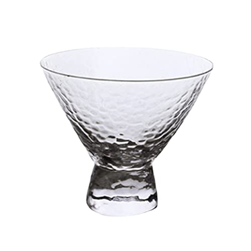 WxberG Footed Ice Cream Bowls, 7 Ounce Glass Dessert Cups – For Ices, Pudding, Fruit, and More – Set Of 2 Thick Glass Serving Dishes