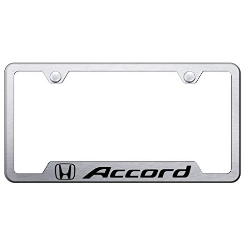Honda Accord Brushed Stainless Steel License Plate Frame