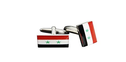 Flaggenfritze® Manschettenknöpfe Fahne / Flagge Syrien