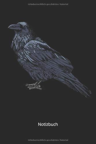 Notizbuch: Schwarzer Rabe für Vogel und Tierfreunde(Liniertes Notizbuch mit 100 Seiten für Eintragungen aller Art)