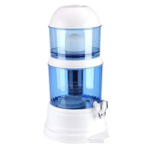 Purificador de agua grande de 16 l, purificador de agua, filtro de purificación de minerales de carbón cerámico, sistema de filtración con grifo, sistema de purificador de agua con filtro de a