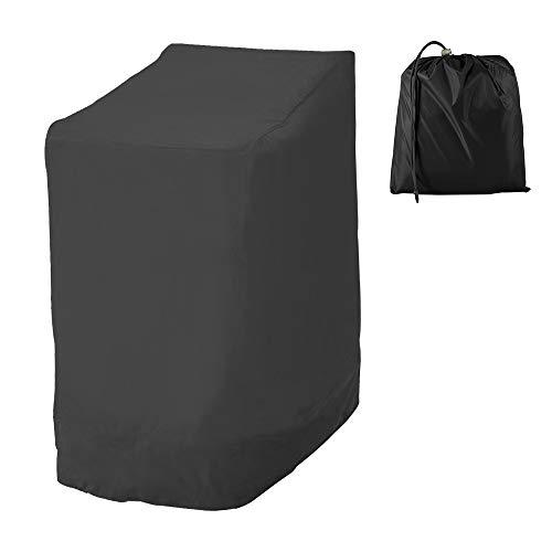 Funda de silla de jardín, funda de protección para muebles resistente, tejido Oxford 210D, funda de silla apilable impermeable para exteriores, 114 x 85 x 65 cm (estilo A)
