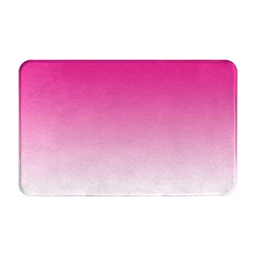 FOURFOOL Felpudo de Entrada Interior Alfombra Fondo Abstracto cristalizado Degradado Ombre Rosa Fuerte Antideslizante Tapete para Puerta Lavable a Máquina para Cocina baño balcón